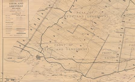 Historic map of amalgamated townships